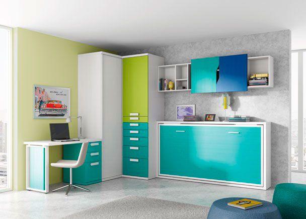 Habitacion infantil 002 39 elmenut habitaciones infantiles - Habitaciones juveniles camas abatibles horizontales ...