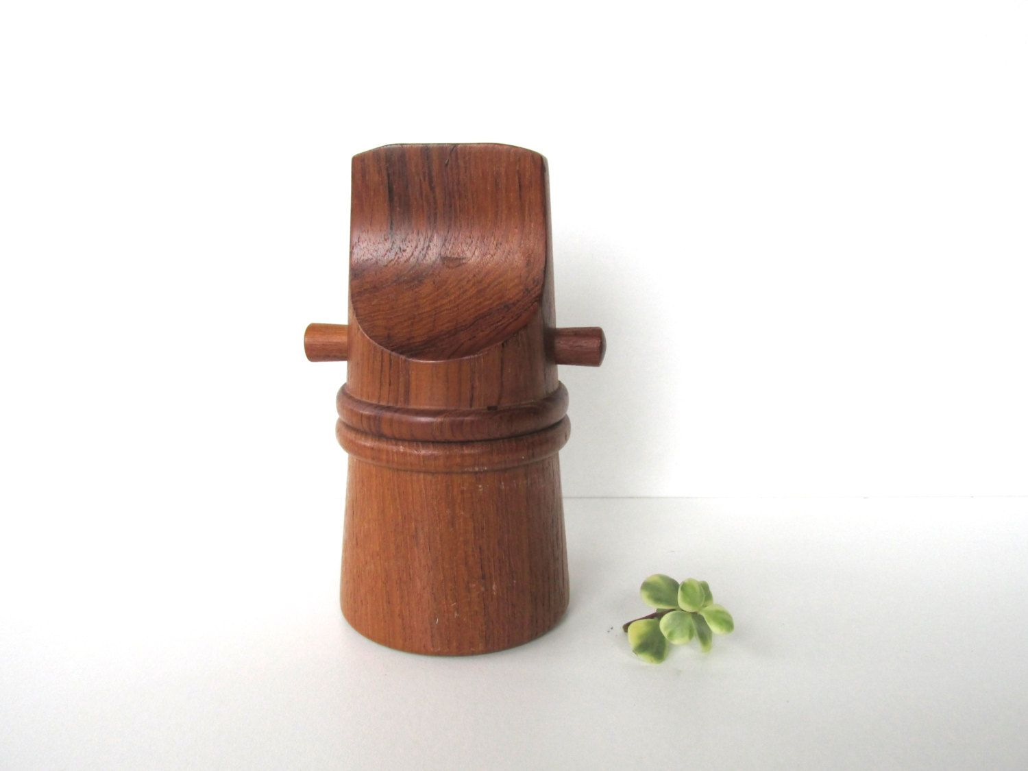 dansk teak pepper mill style  danish modern peppermill grinder  - dansk teak pepper mill danish modern pepper grinder salt shaker byhervintagecrush on etsy
