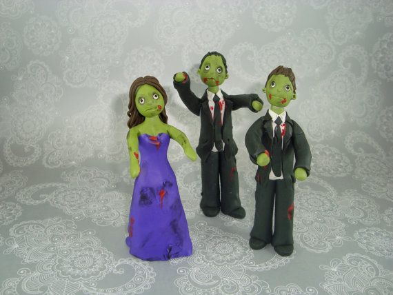 Personalized Zombie Theme Cake Topper by mudcards on Etsy, $165.00