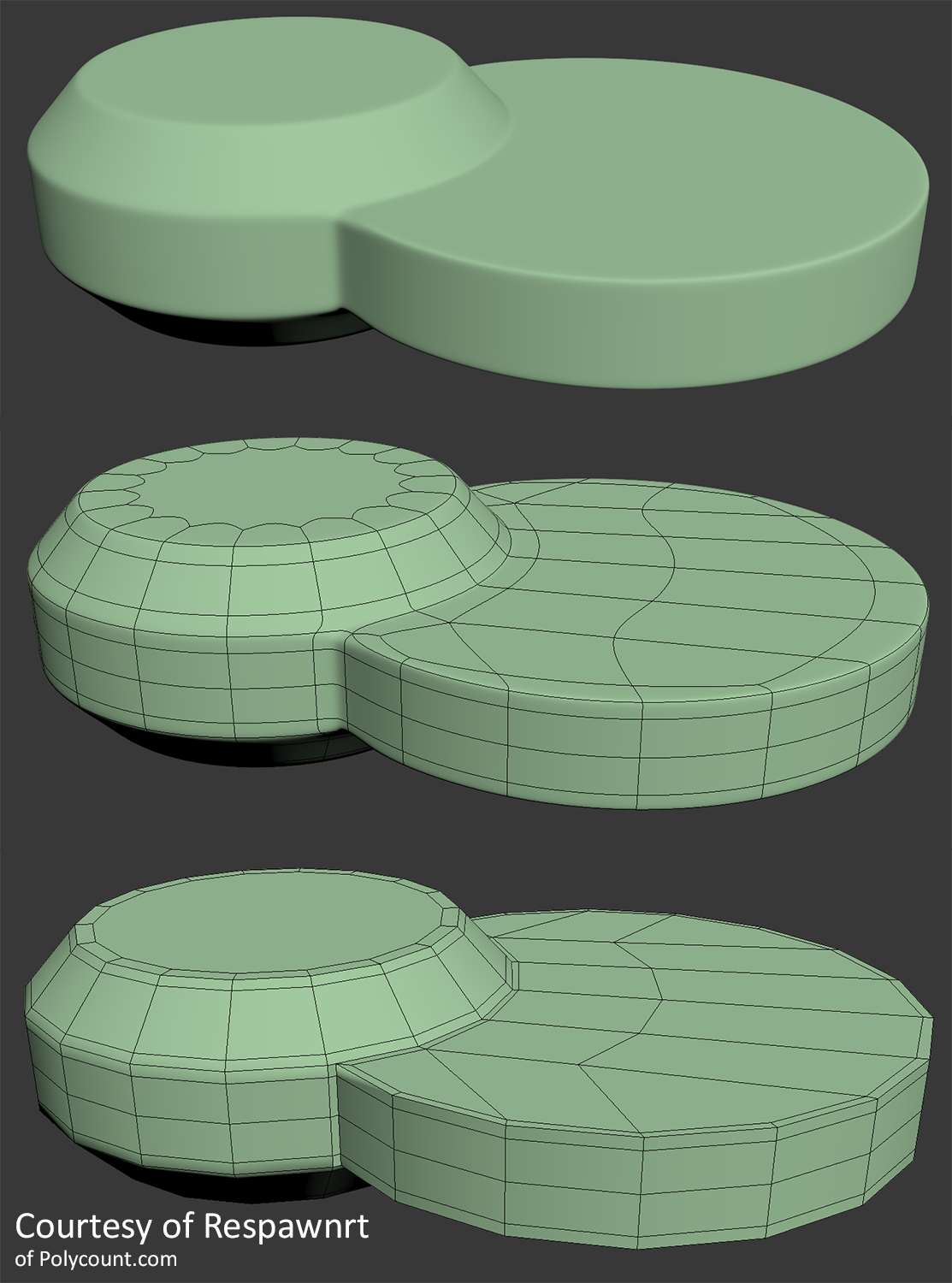 Intersecting disksjust some topology i thought was interesting courtesy of respawnrt polygon modeling hard