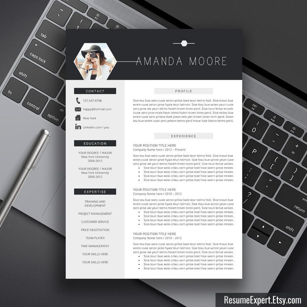professional resume template bundle  cover letter  cv template  word resume  editable resume