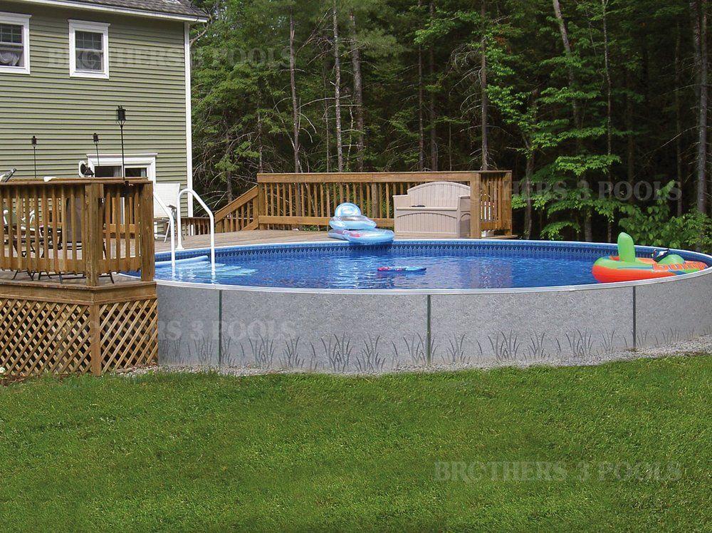 Semi Inground Brothers 3 Pools Swimming Pools Radiant Pools Above Ground Swimming Pools
