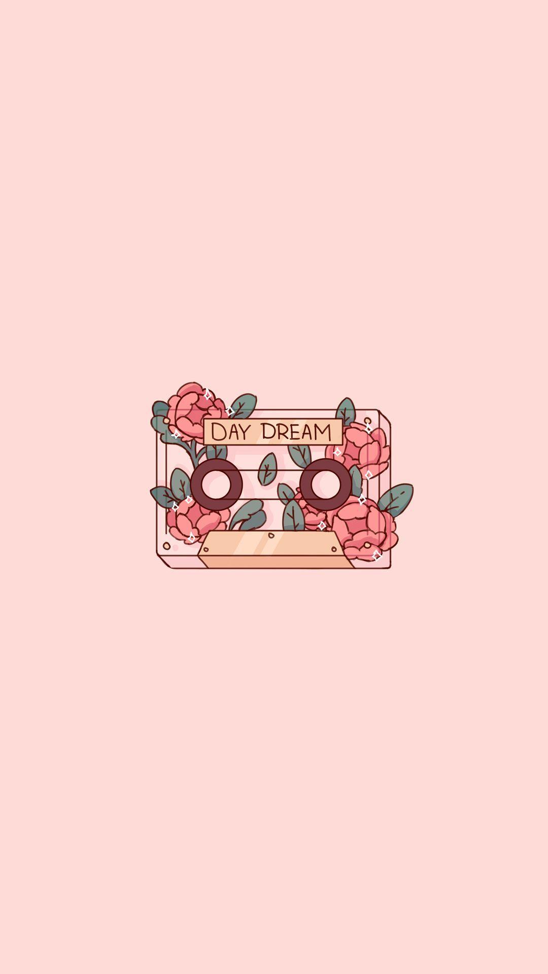 Flower Cassette Tape Sticker Flake Cute Aesthetic Plant