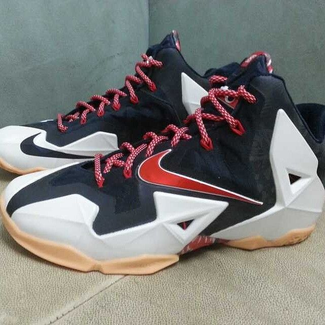 new concept 15dd4 faaba Authentic Nike Lebron 11 Independence Day Shoes For Sale Online Free  Shipping. http