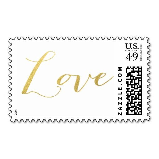 CHIC GOLD FOIL LOVE POSTAGE