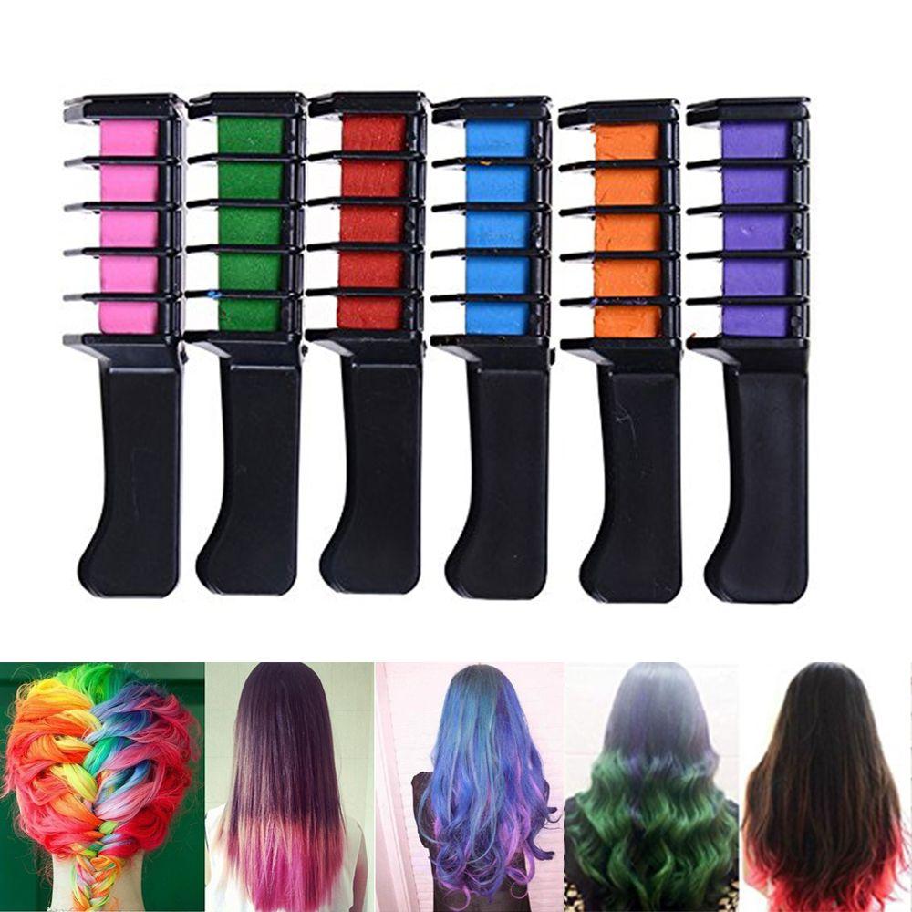 Hair Chalk Comb, 6Pcs/Set Mini Disposable Personal Salon