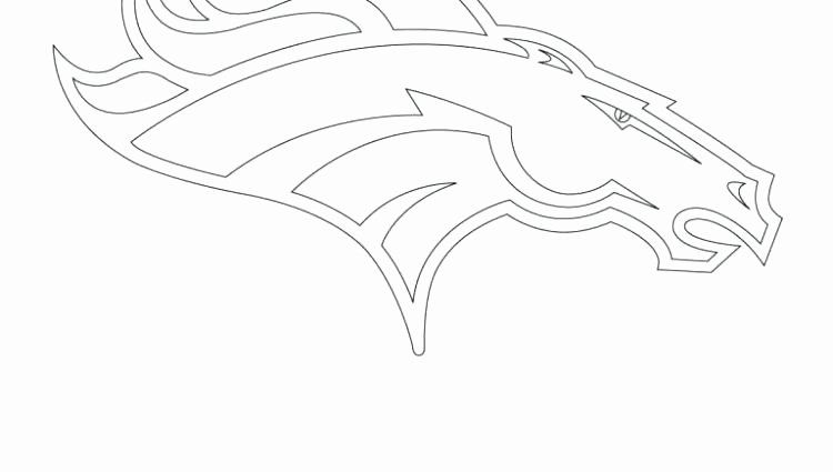 Denver Broncos Coloring Page Lovely Broncos Logo Coloring Page At Getcolorings In 2020 Broncos Coloring Pages Broncos Colors