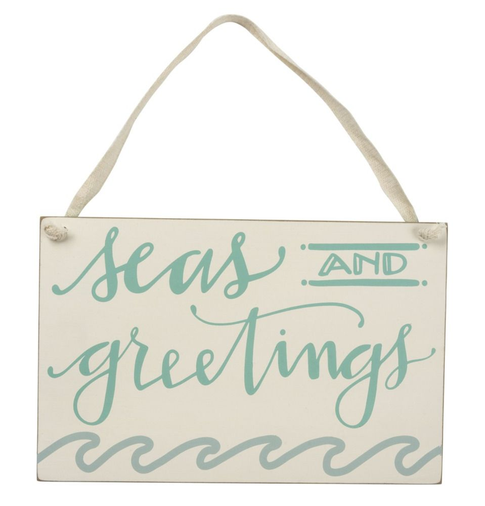 Details About Seas And Greetings Welcome Sign Coastal Home Decor