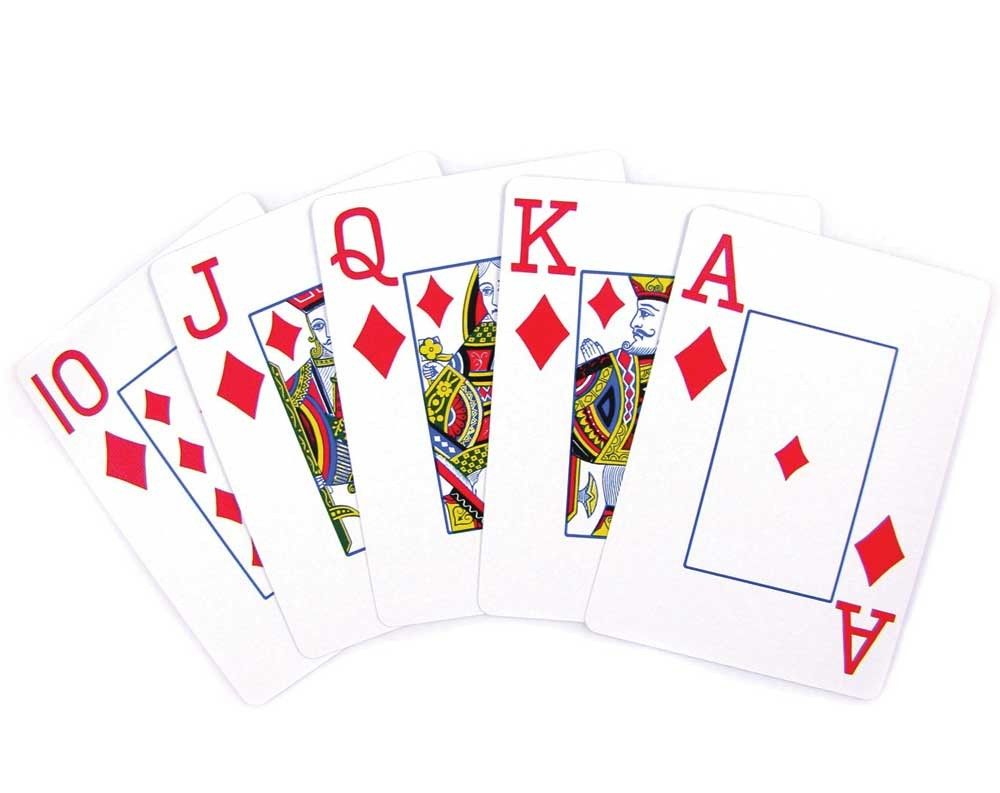 Wall table decorations casino night playing cards