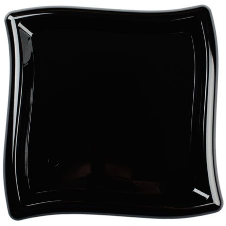10\  Wavy Square Black Plastic Dinner Plates  sc 1 st  Pinterest & 10\