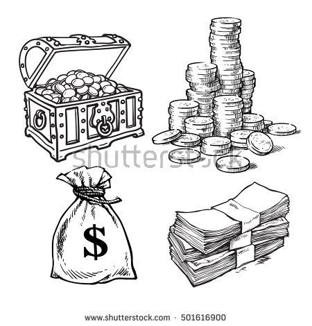 29+ Falling money clipart black and white info