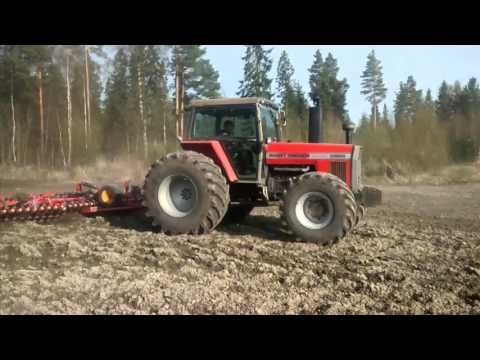 MF 2720 PLOUGHING - YouTube