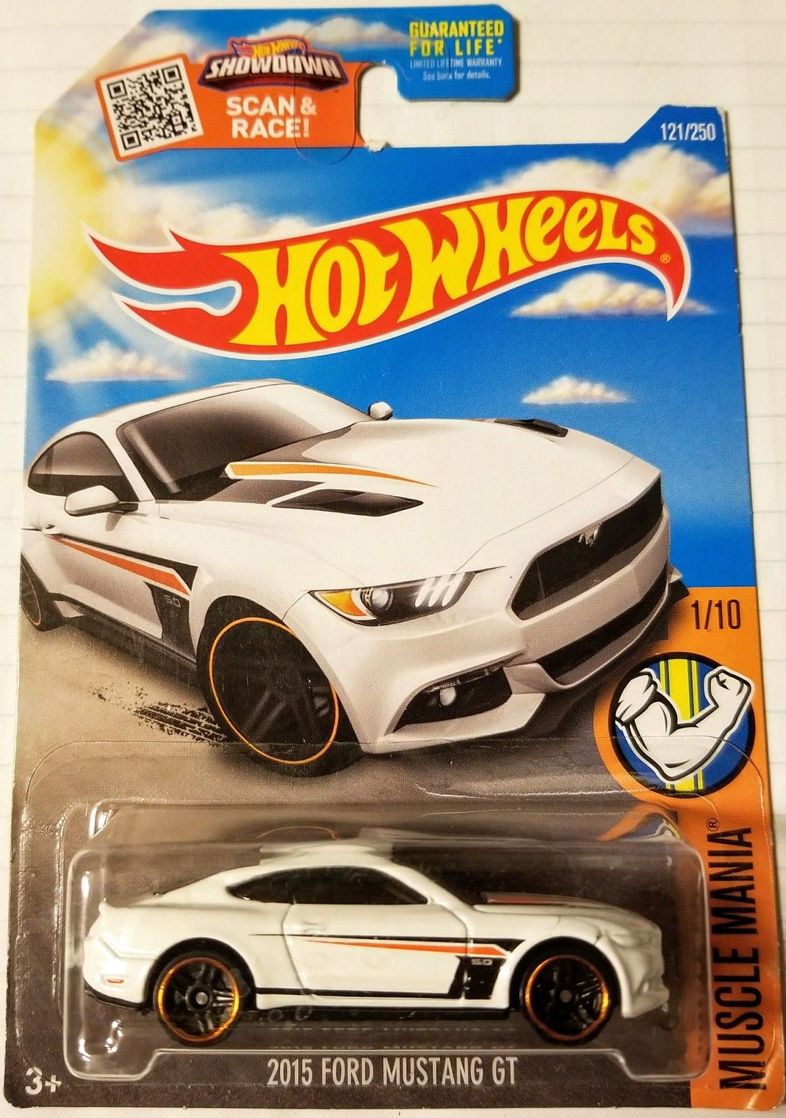 Hot wheels spring card 2015 ford mustang gt 2016 muscle mania white