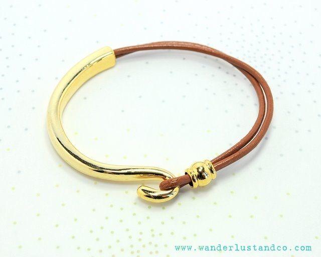 leather & hook bracelet