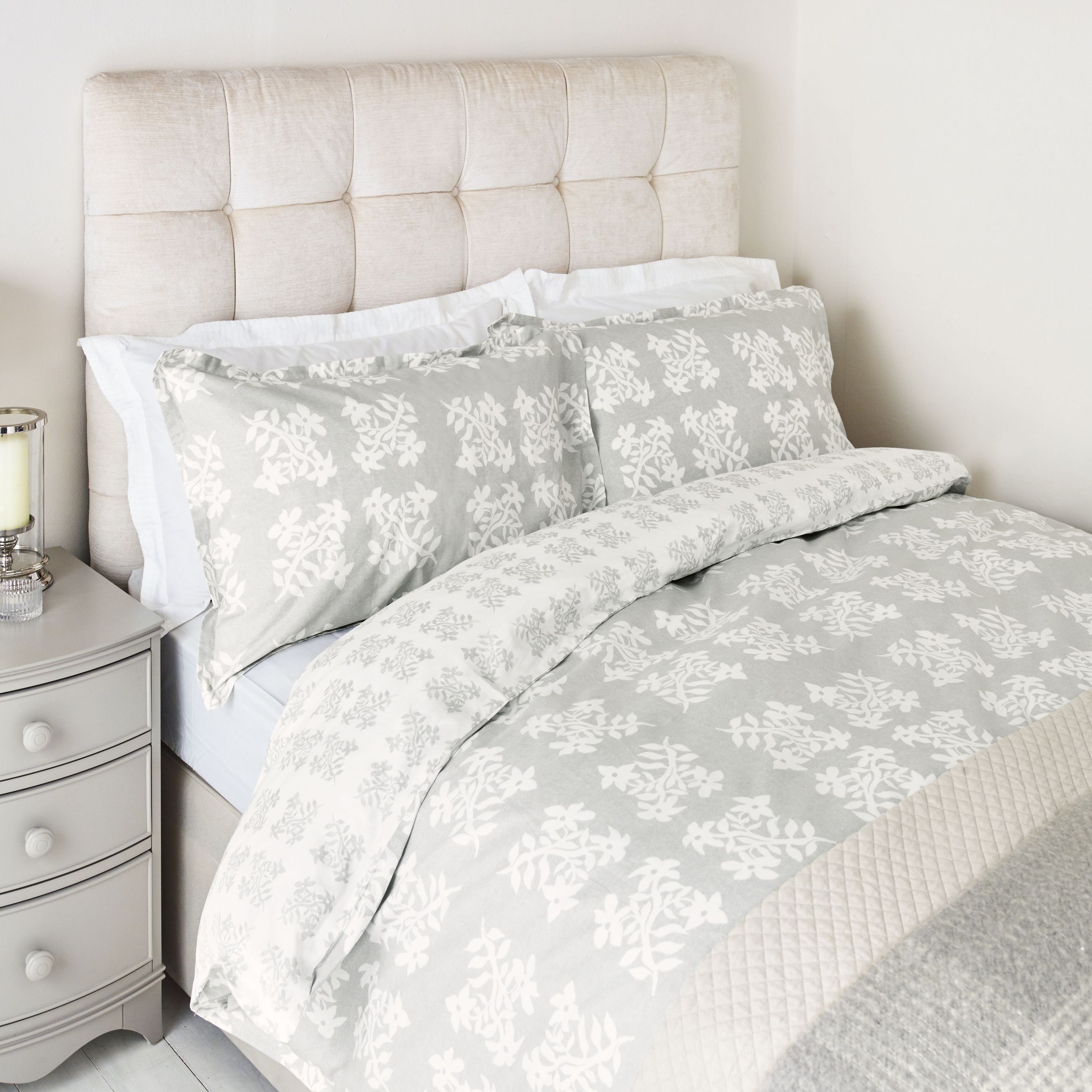 Laura Ashley Greenwich Steel Floral Duvet Cover Country House