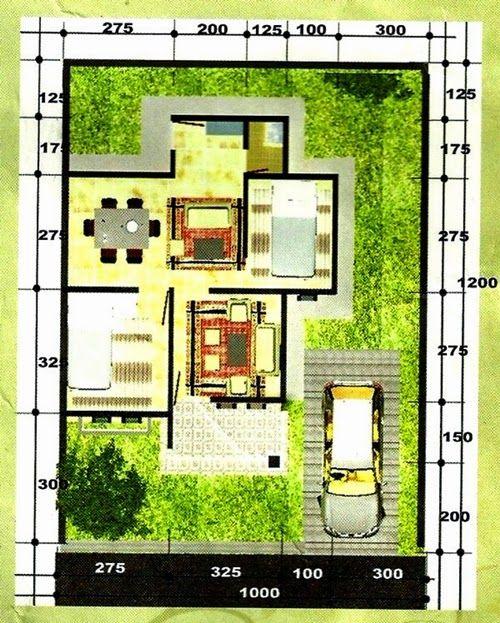 Contoh Pembagian Denah Rumah Minimalis Type 45 1 Lantai In 2019