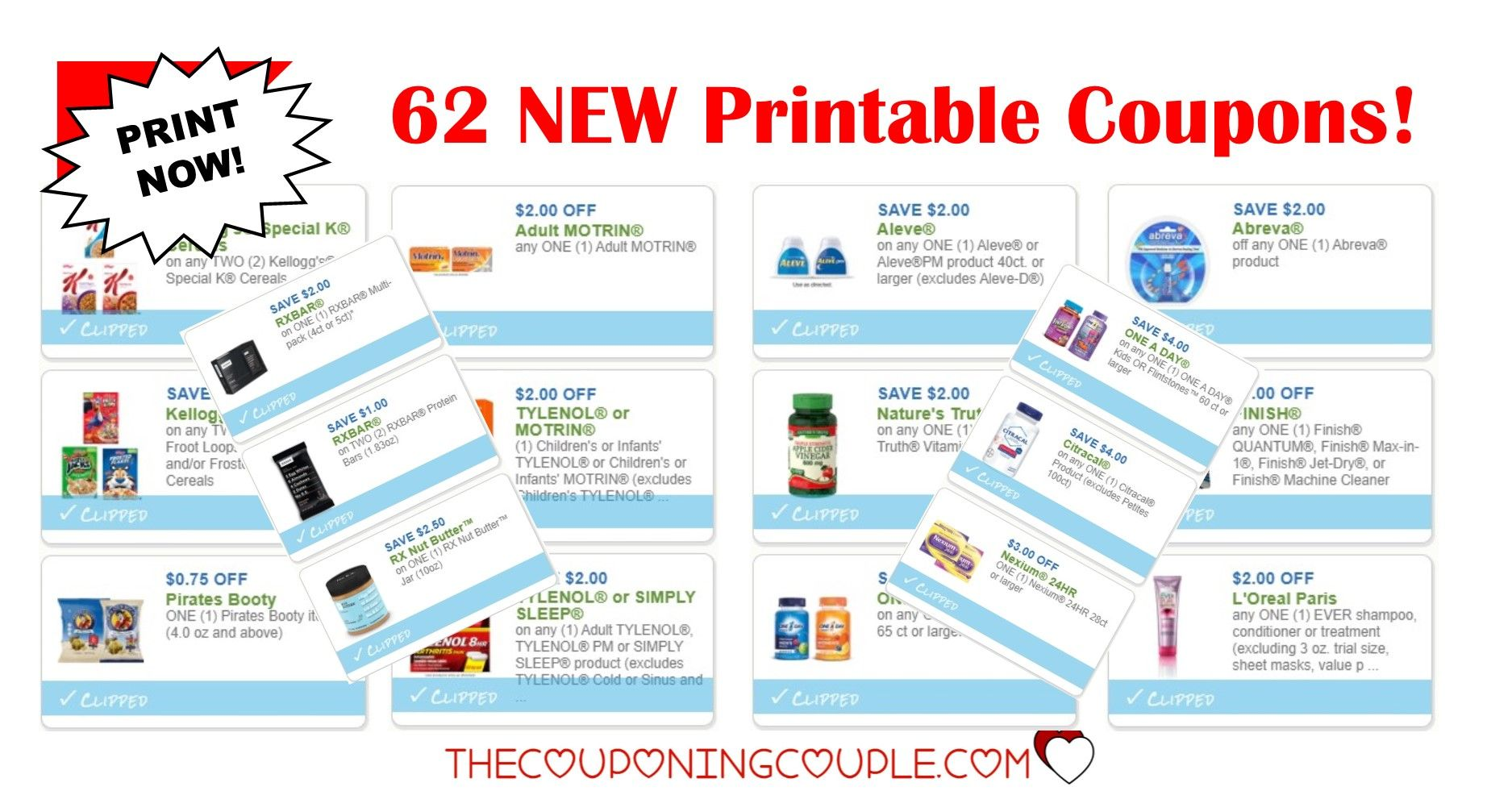 62 New Printable Coupons Over 143 In Savings Wow Printable Coupons Coupons Aleve