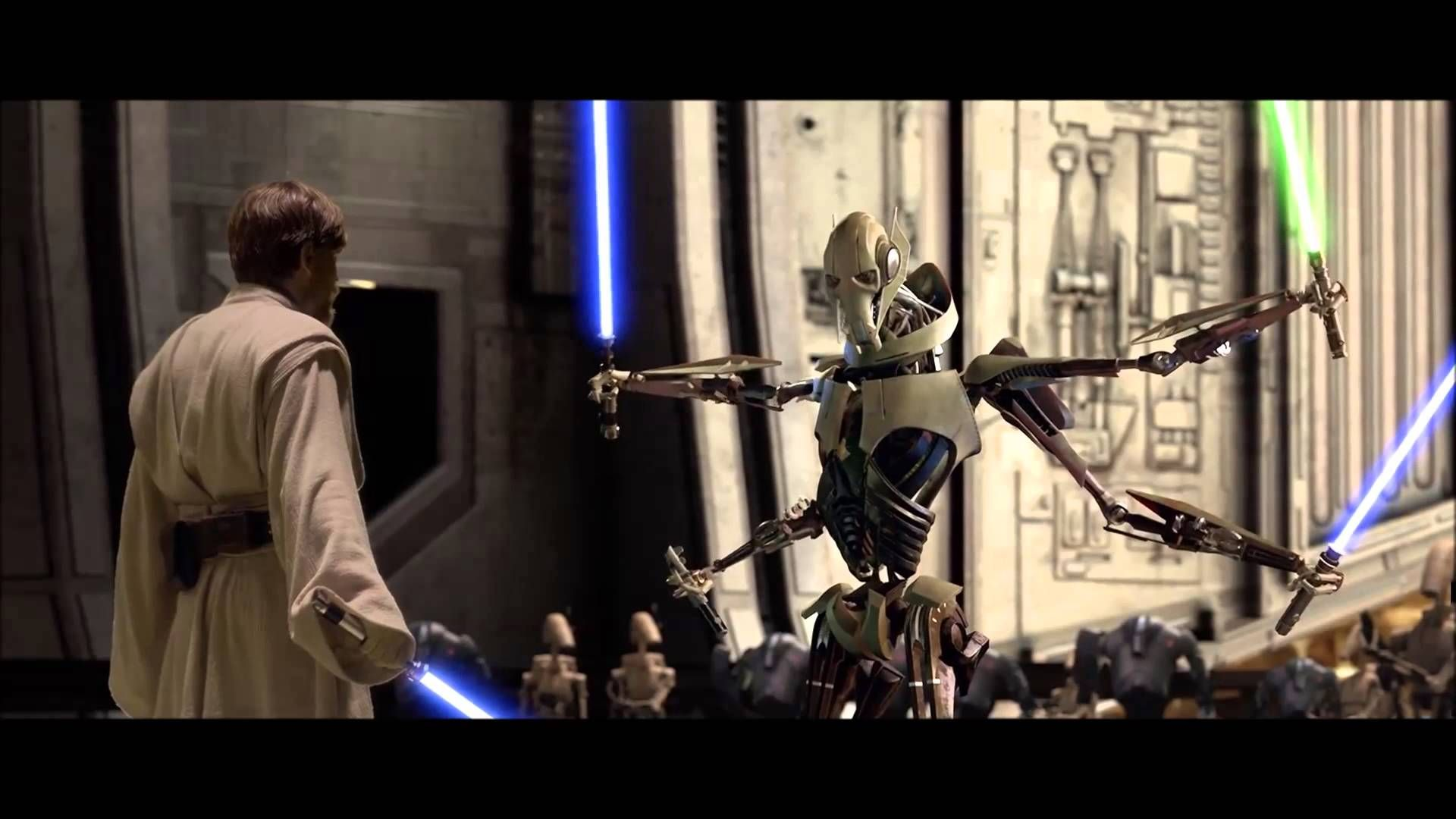 Revenge Of The Sith Obi Wan Kenobi Vs General Grievous Hd Best Star Wars Quotes Star Wars Battlefront Star Wars Movie