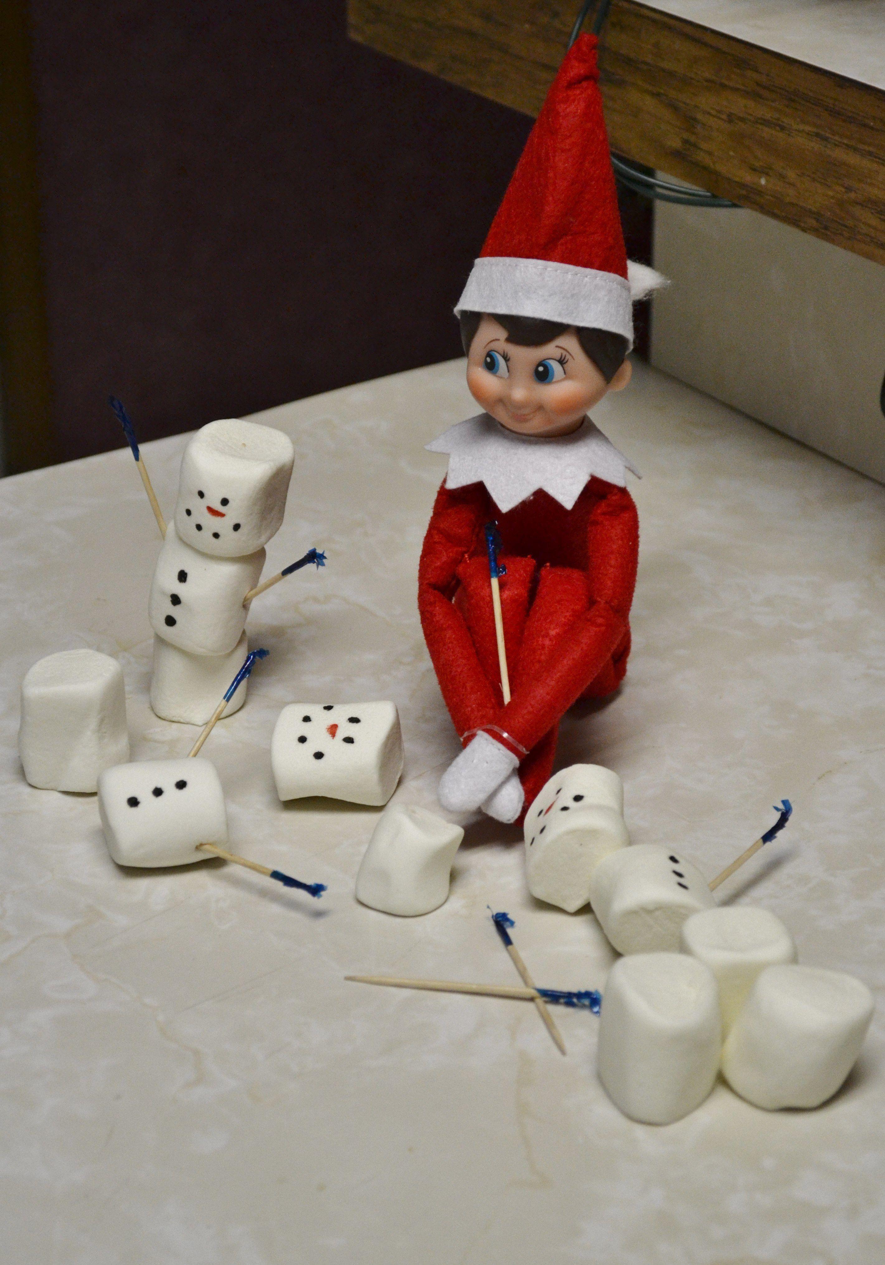 Charlie Elf On The Shelf Making Snowmen Elf On The Shelf Elf