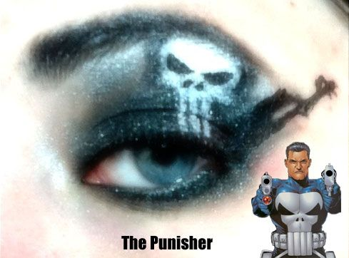 The Punisher Makeup. I have taken my favorite Heroes/Villains from DC and Marvel to create makeup art for each one, this is my first.