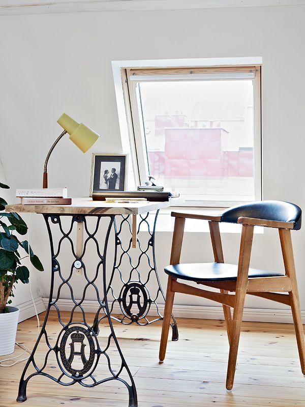 Reciclando muebles: Mesas de costura – Visioninteriorista