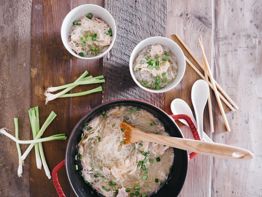 Chicken Long Rice | Chicken long rice, Food, Recipes
