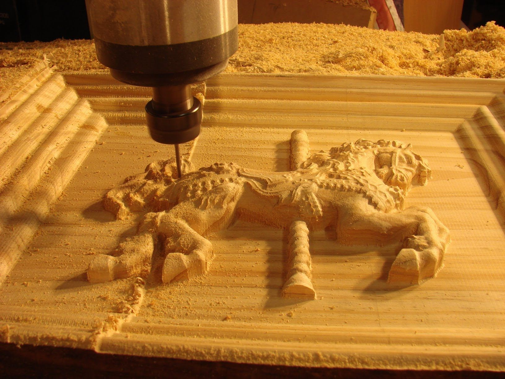 Three heads 3d relief cnc wood router china mainland wood router - A Cnc Router Tutorial Machining A 3d Fairground Horse In A Frame In Wood An Australian