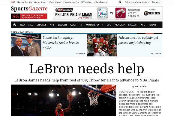 Sportsgazette Sports Newspaper Theme Newspaper And Wordpress