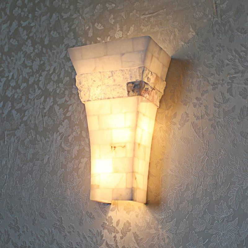marble lamps Marble Wall sconce Retro Loft Style Iron Marble Sconce Vintage Wall Light For Home Antique Industrial LED Wall Lamp