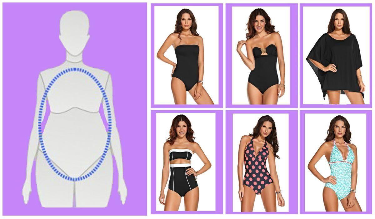 f9afc8c378cc Elige el vestido de baño según la forma de tu cuerpo   Vestidos de ...