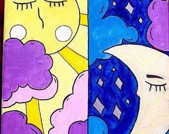 Purple aesthetic wallpaper anime   Etsy