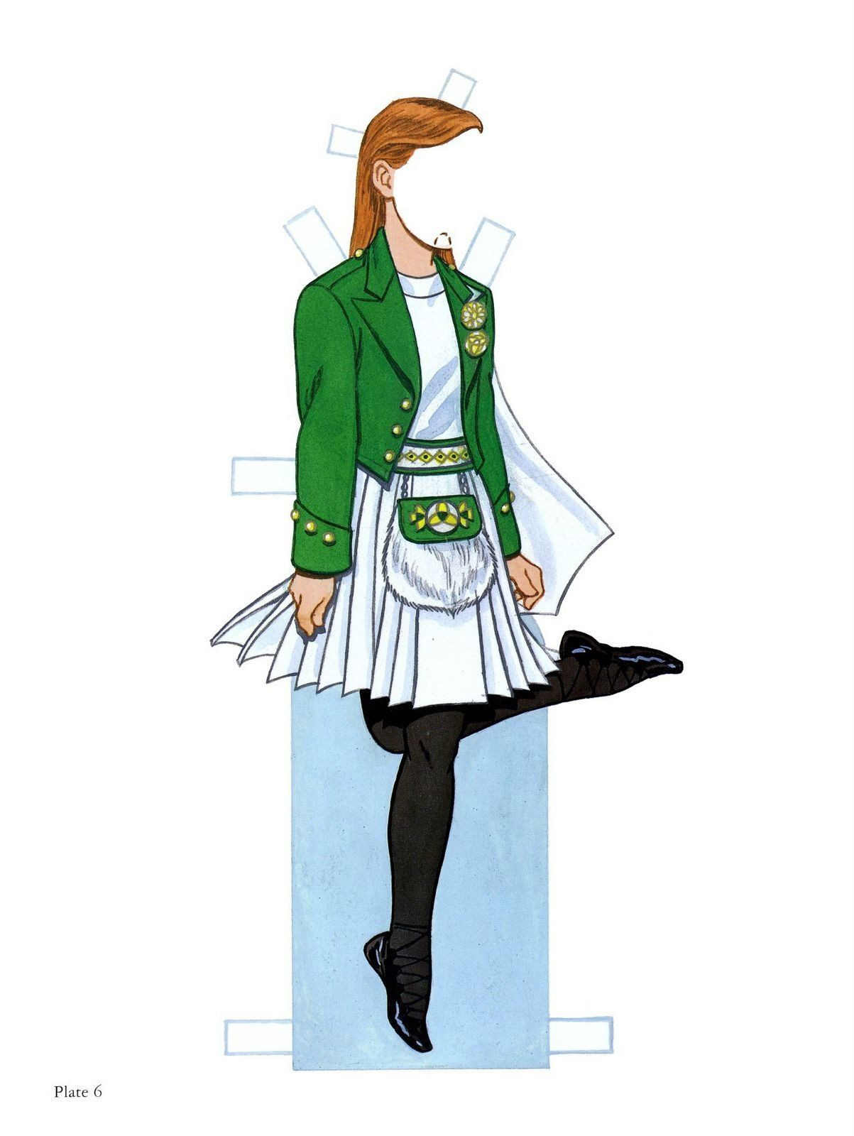 Hermosa Irlandés Vestido De Baile Para Colorear Friso - Ideas Para ...