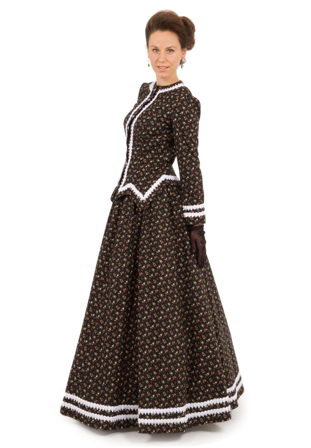 Braid Trimmed Victorian Ensemble Lace Outfit Historical Dresses Shop Casual Dresses [ 1528 x 1060 Pixel ]