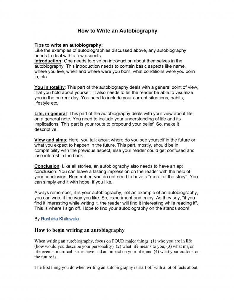 Download Autobiography Template 17 Autobiography Writing Autobiography Template Autobiography