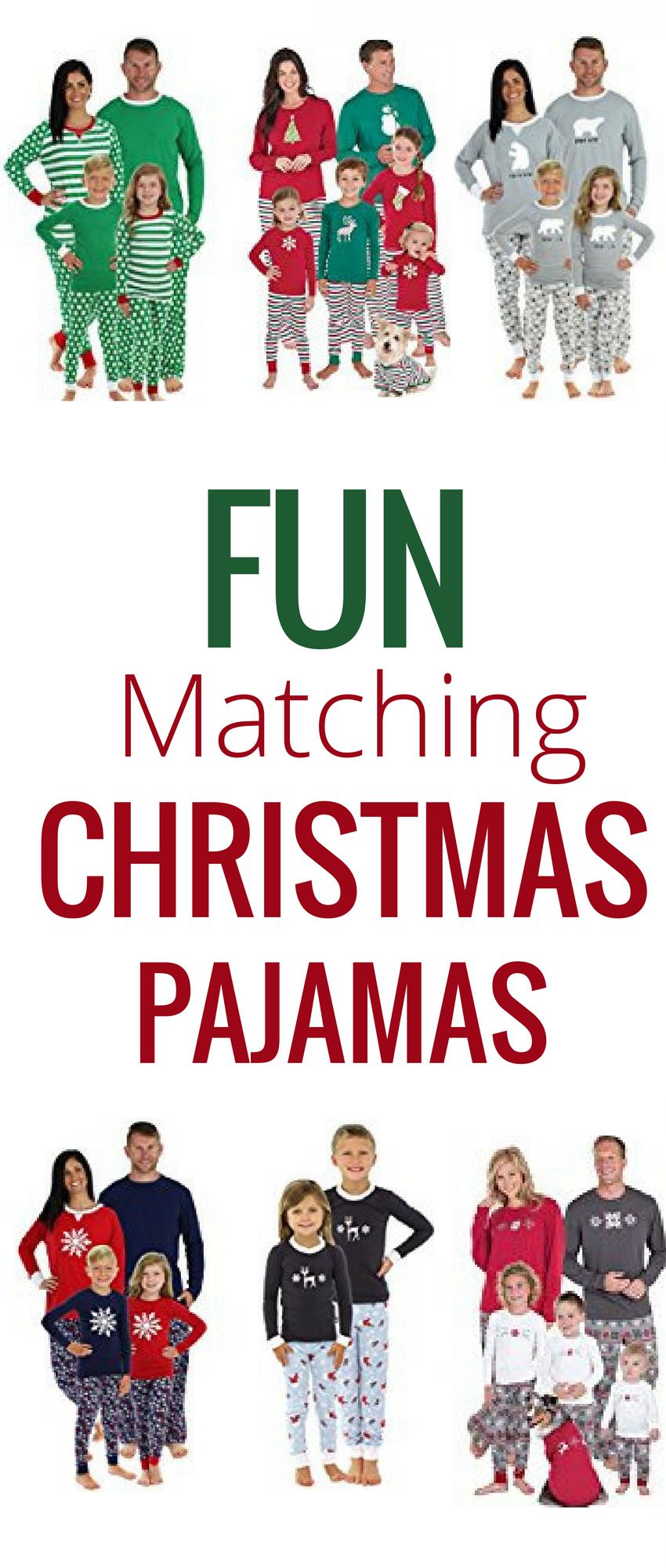 Matching Christmas Pajamas for the Entire Family   Pinterest ...
