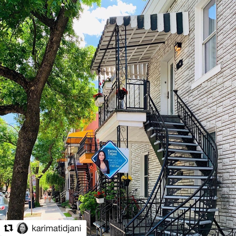 Repost Karimatidjani With Get Repost A Vendre Duplex Sur La Rue Chambord Metro A Distance De Marche Duplex Chambord P In 2020 House Styles Mansions House