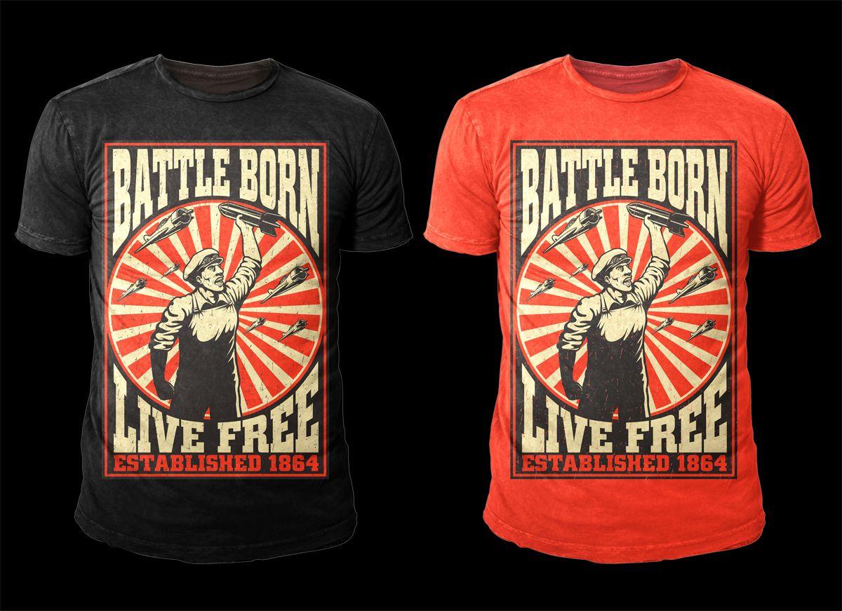 T-shirt Design by D'Mono for Cool propaganda T-shirt Design needed ...