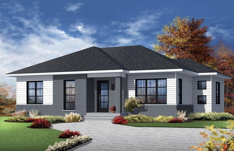 Contemporary House Plan Chp 55630 At Coolhouseplans Com Modern Contemporary House Plans Modern Bungalow House Ranch Style House Plans