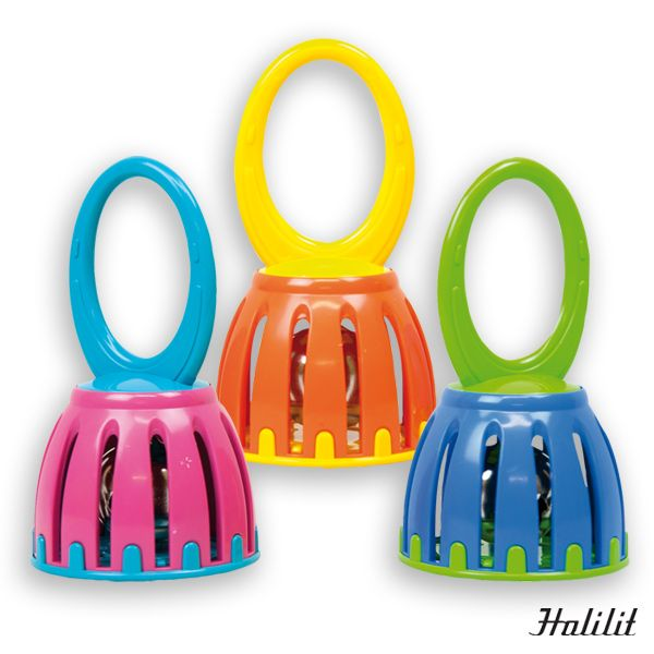 70341T Campana cascabel HALILIT Campana de bonito sonido. Especialmente diseñada para los bebés. Medidas: Ø6,8 x 12,5 cm
