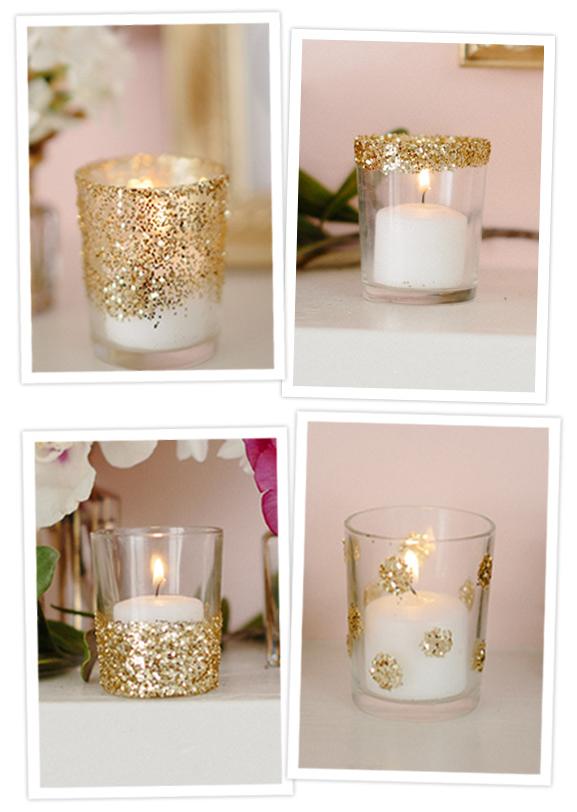 Como hacer candelabros con glitter navidad pinterest - Como hacer candelabros ...