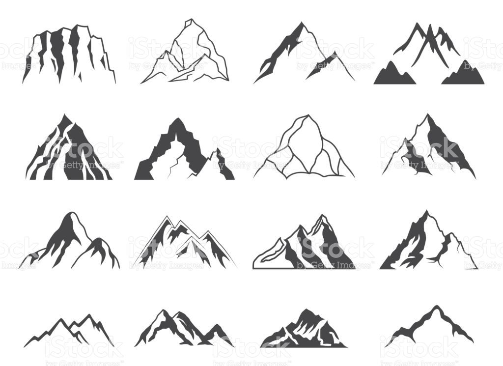 094f54693f9c32 Mountain Shapes For icons royalty-free mountain shapes for icons stock  vector art & more images of mountain