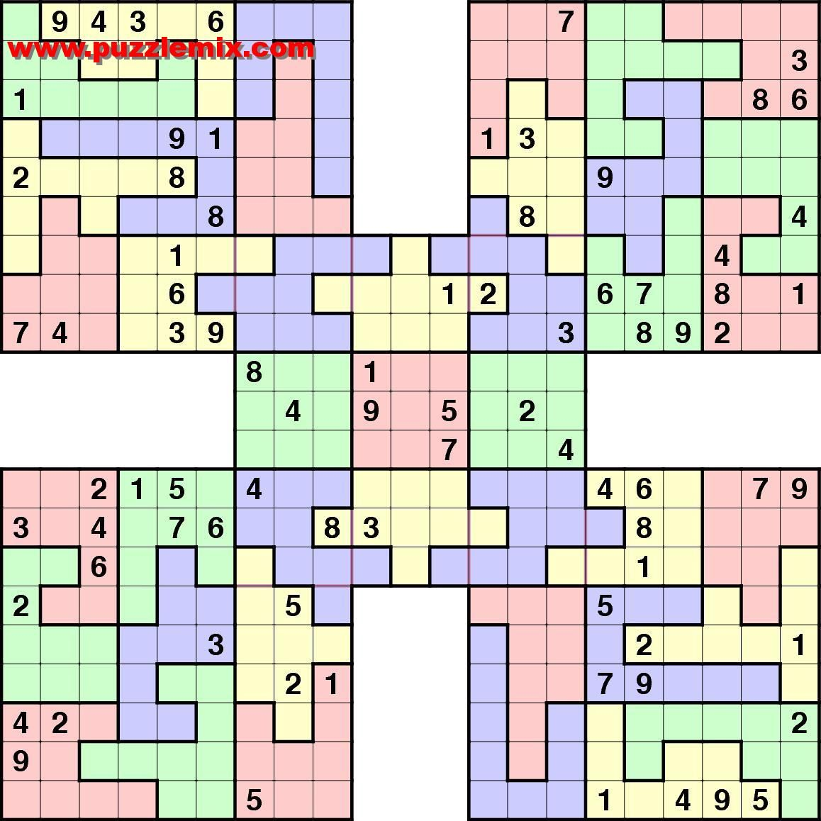 Formats If Required Sudoku And Variants Samurai Sudoku And