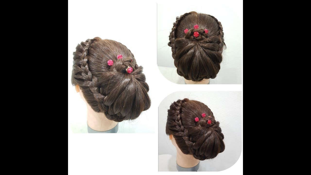 Beautiful Hairstyle for wedding Party/function | Hair style girl | Girl hairstyles, Hair styles ...