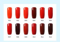 10ml Rust Henna Blood Red clear color home UV nail varnishes gel manicure Vampire Blood nail art for bridal makeup nagellack