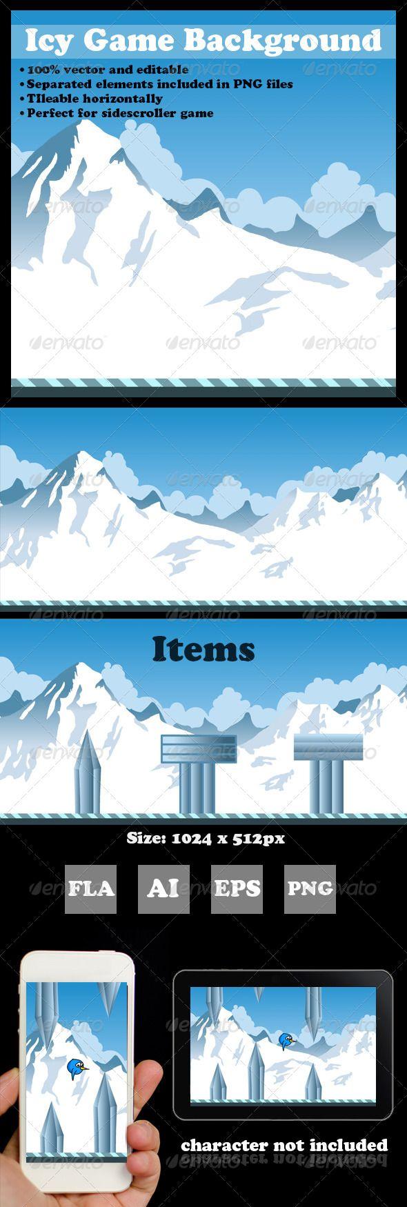 Icy Game Background Game background, Game assets, Pixel