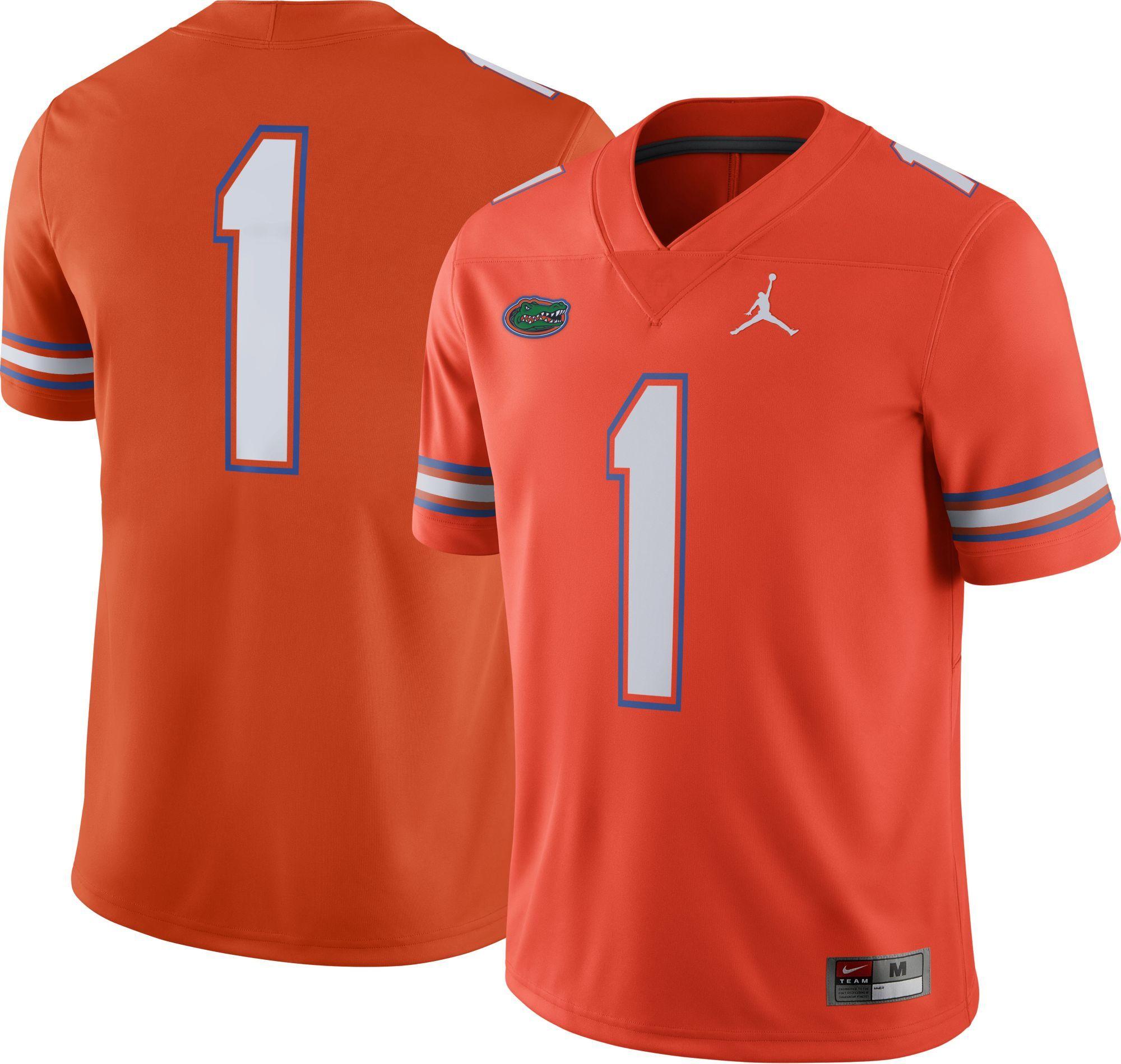 buy online 379d9 3a398 Jordan Men's Florida Gators #1 Orange Game Football Jersey ...