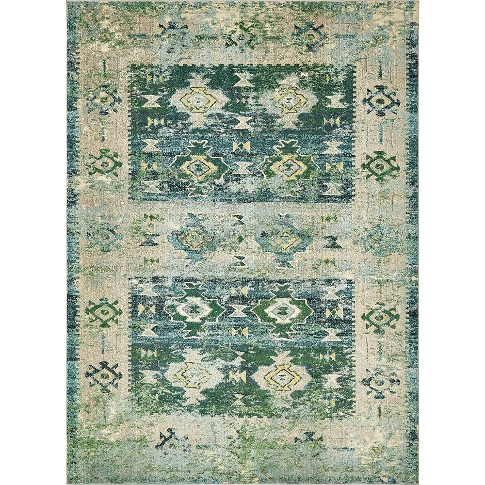 Unique Loom Monterey Empire Green 9 0 X 12 0 Area Rug 3139916 Area Rugs Rugs Synthetic Rugs