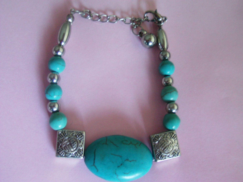 Vintage TurquoiseBracelet / Turquoise Jewelry / American Native Bracelet / American native Jewelry / Southwestern Bracelet / by TamJewelryandUniques on Etsy