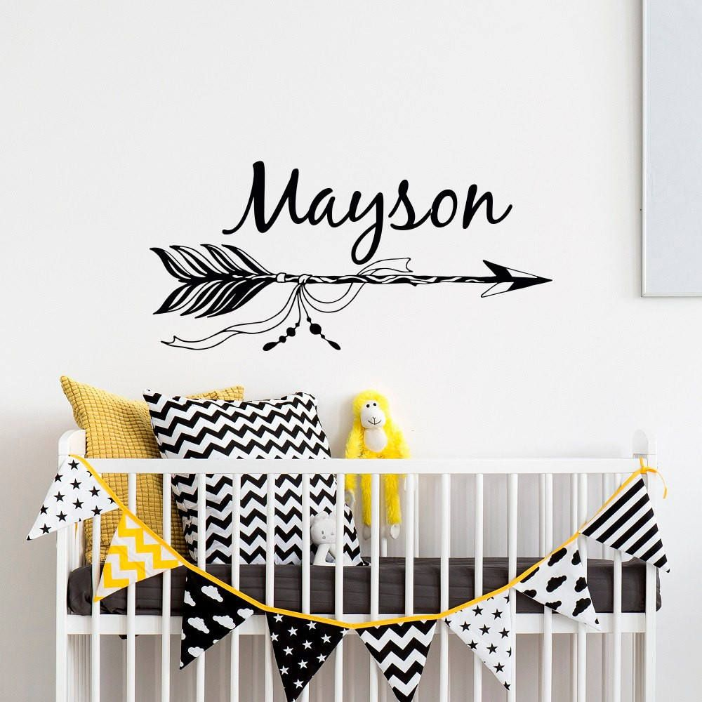 Arrow Custom Name Decal For Boy Girls Room Personalized Wall - Custom vinyl wall decals nursery