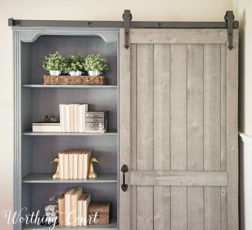 Ikea Barn Door Everyone Loves A Good Hack And This One Is Stellar Get The Look Of Pricey Built Ins Using Four Home Barn Door Bookcase Kitchen Furniture Design